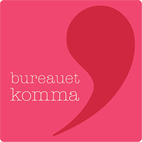 Bureauetkomma Square Logo Red